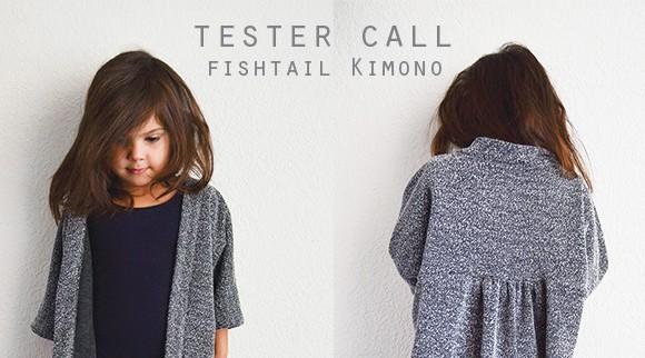 Tester call fishtail kimono-crop