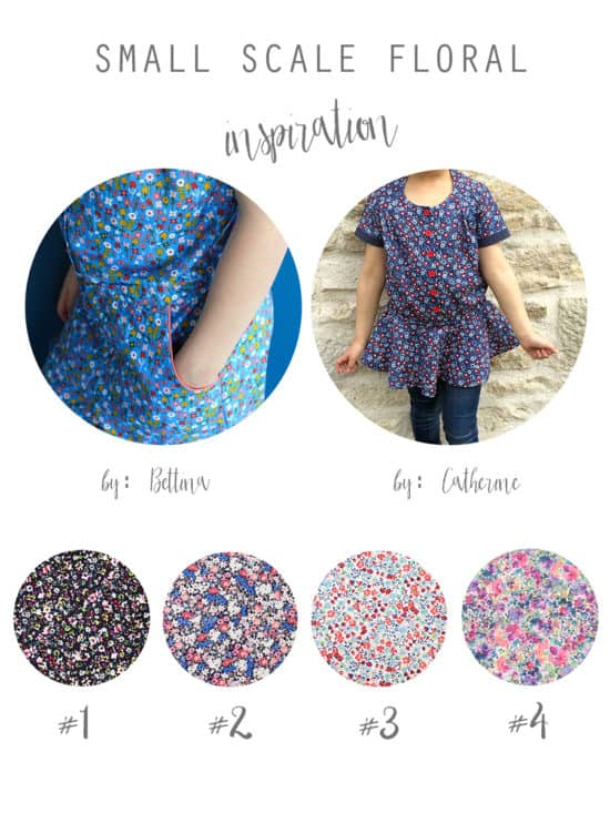 All over floral print fabric reference