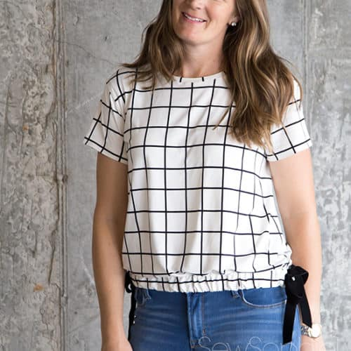 Pixie Tee - Chalk and Notch Pattern