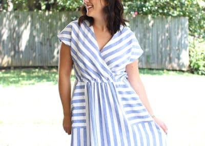Fringe Wrap Front Dress