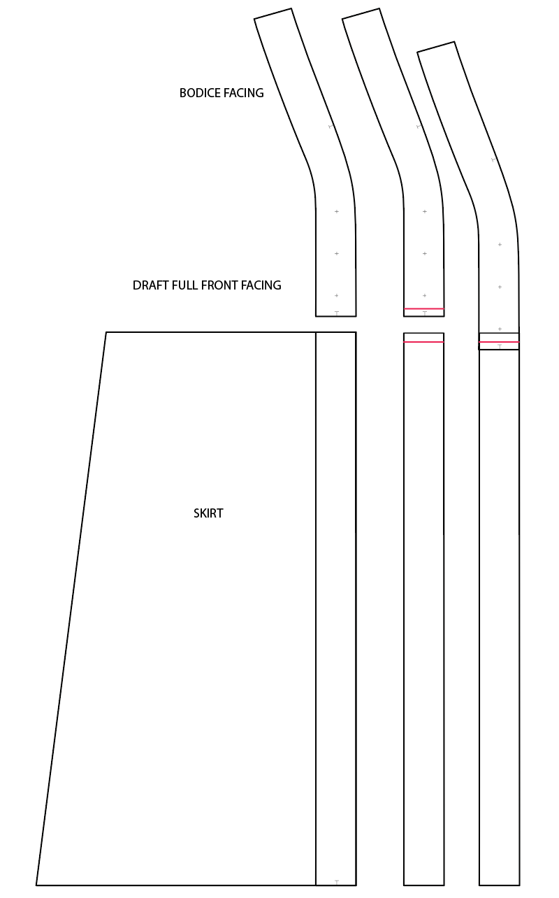 Diagram shows how to add facing to Fringe