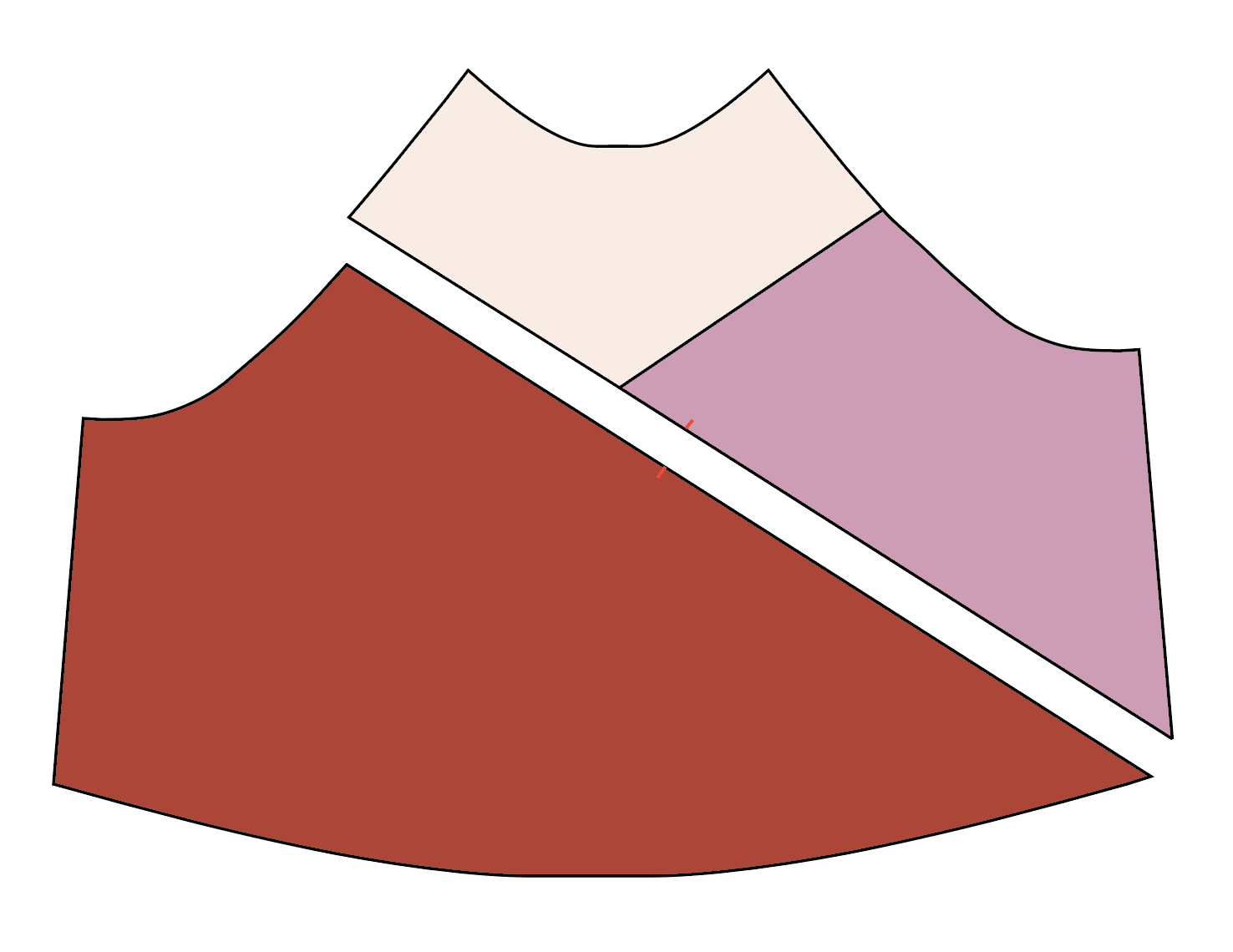 illustration shows order to sew color blocked Page