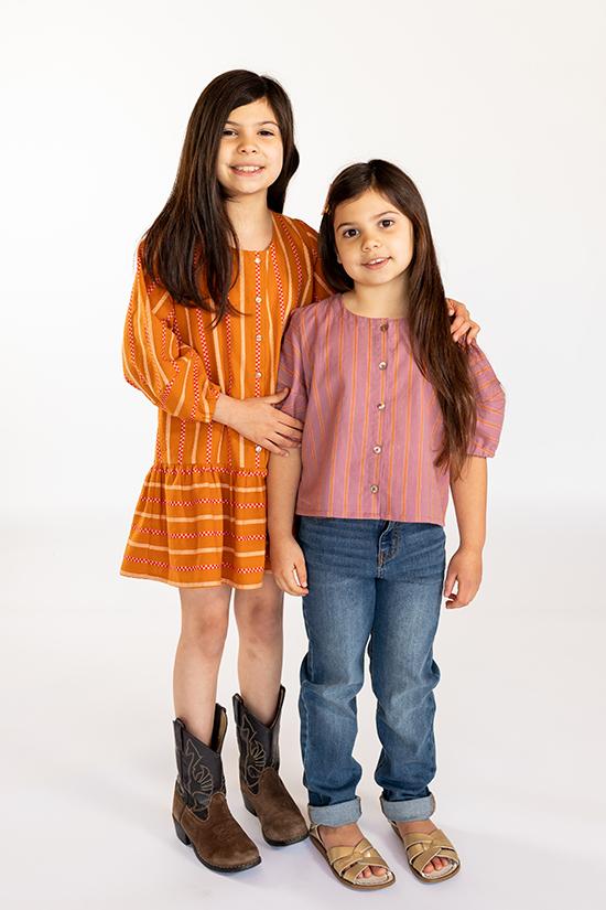 Chalk and Notch Mini Wren Blouse and Dress Pattern
