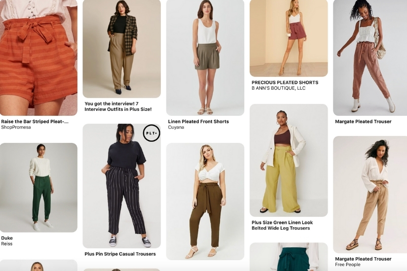 A screenshot of a Pinterest board shows ready to wear inspiration for the Crew pattern.